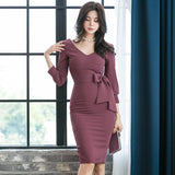 New winter Autumn Elegant Women Party Dress Sexy Bodycon Midi Casual Club Dress Creationsg