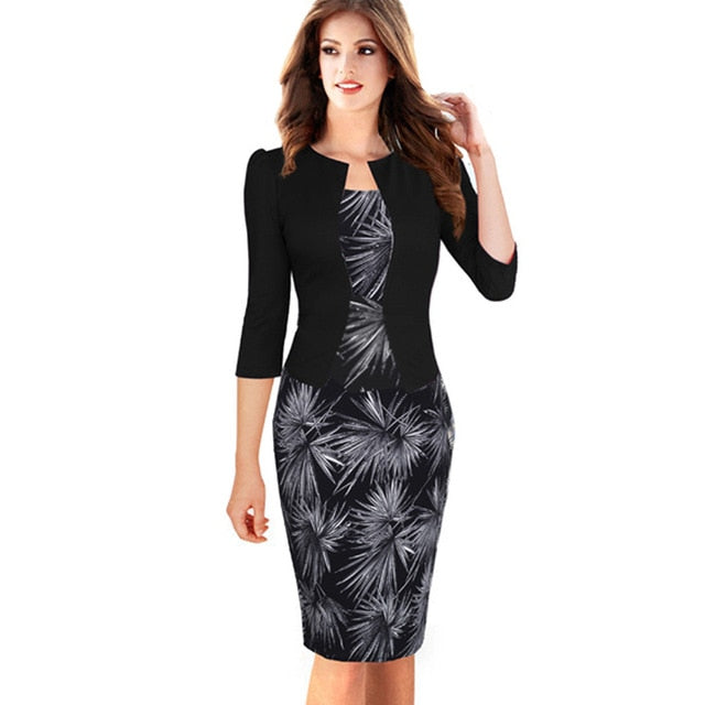 Faux Jacket Brief Elegant Patterns Work dress Creationsg