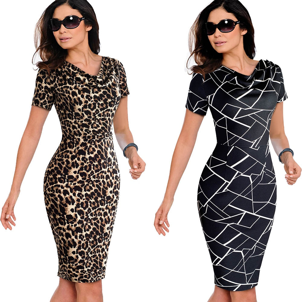 Women Vintage Wear to Work Elegant vestidos Business - Creationsg