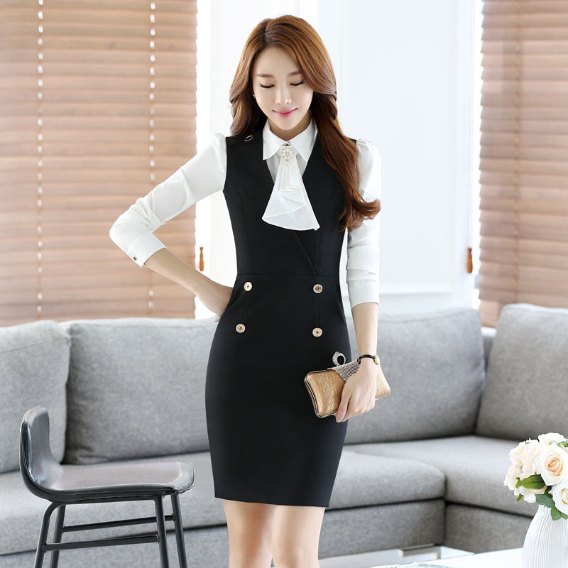 Novelty Fashion Work Wear Suits With Dress And Blouses Creationsg