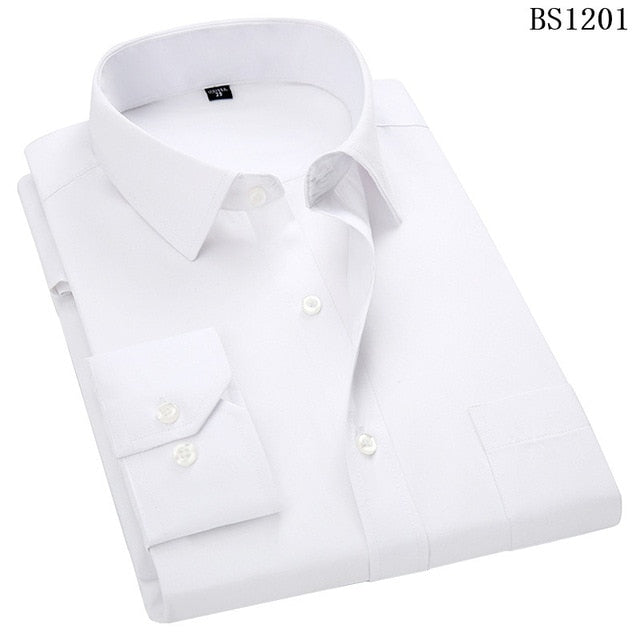 Mens Business Casual Long Sleeved Shirt Classic Dress Shirts Creationsg