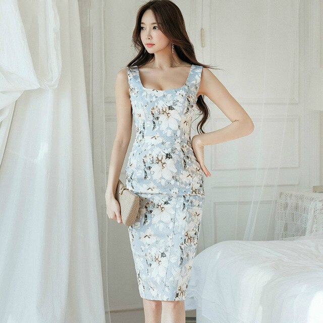 Print Flower Dress Women Casual Streetwear Ladies Dresses Creationsg