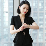 creationsg - Spring Summer Blazer Coat Women 2019  Blazers Suit Office Lady Casual Work Coat
