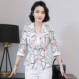 creationsg - Suit Jacket Female Blazer Women Elegant Office Lady Blazer Spring Jacket Outwear