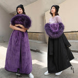 Snow Wear Long Parkas Winter Jacket Women Fur Clothing Female coat Creationsg