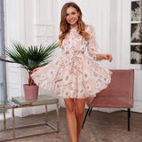 Vintage Floral Spring Summer Fashion Work Office Lady Dress Creationsg