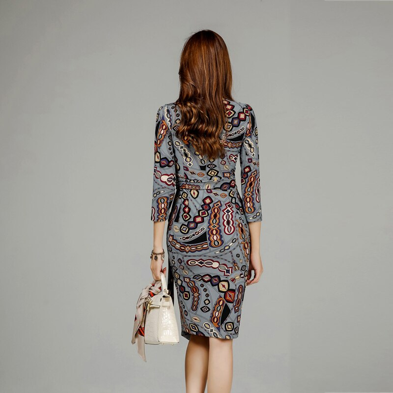 Autumn Women Elegant Wear to Work vestidos Business Dress Creationsg