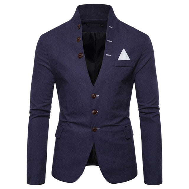 Blazer Men Autumn formal dress jacket Casual Slim Fit Creationsg