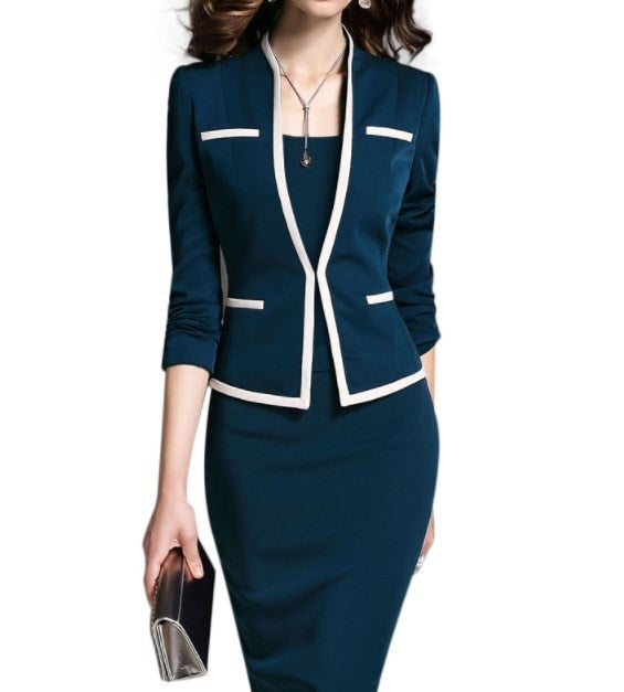 creationsg - Office Wear Outfit Jacket and Dress Spring Autumn Dresses Suits