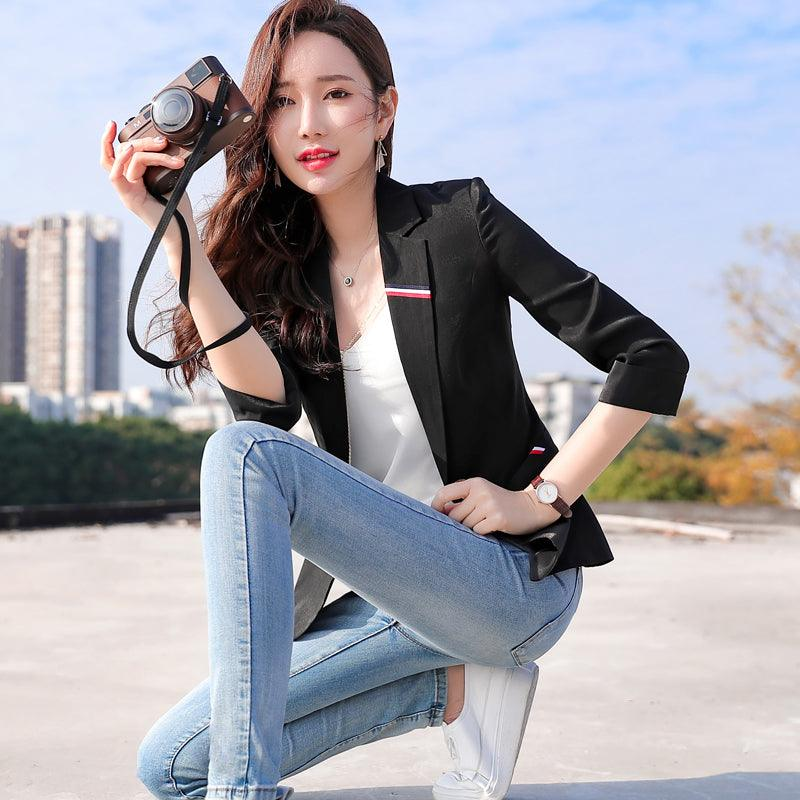 2019 spring and summer new slim slimming professional temperament small suit Creationsg