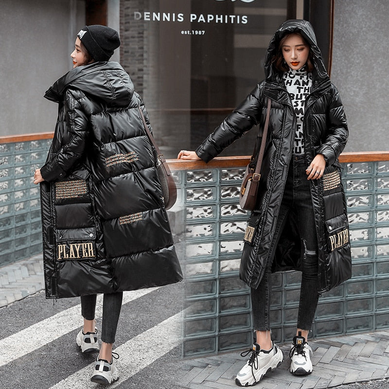 Female Winter Hooded Thick Puffer Jacket Women Korean Style Coat Ladies Creationsg