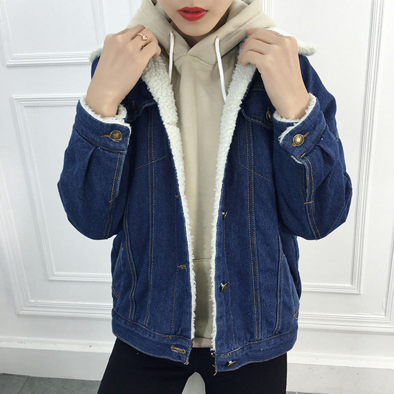 Lambs Wool Denim Jacket Creationsg