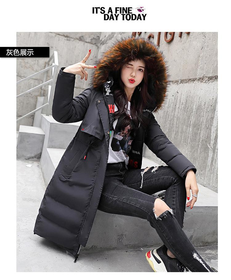 2018 winter new Parkas Korean version of the hooded fur coat Creationsg