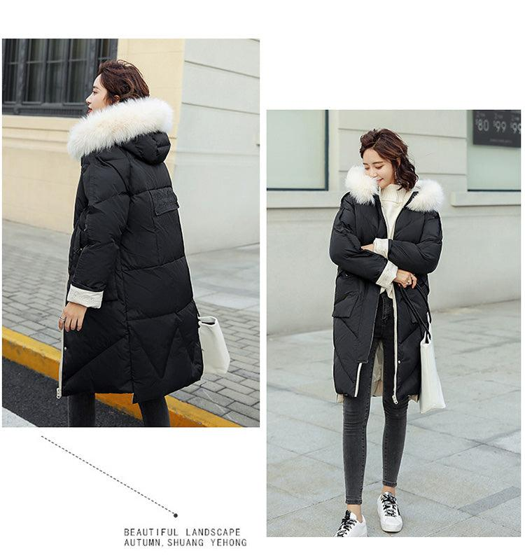 creationsg - 2018 winter fashion hooded detachable cotton coat