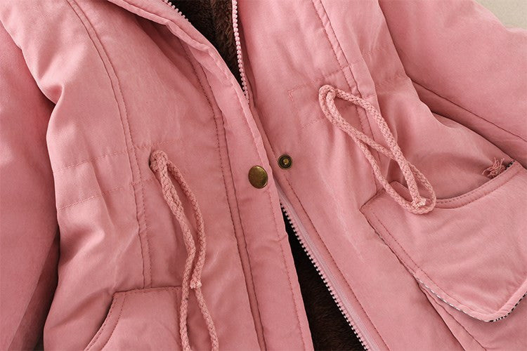 Womens Parka Casual Outwear Autumn Winter Cotton Hooded Coat Creationsg