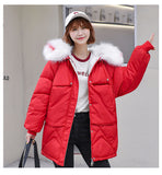 Warm Winter Jacket Women 2019 Fashion Hooded Fur Coat Creationsg