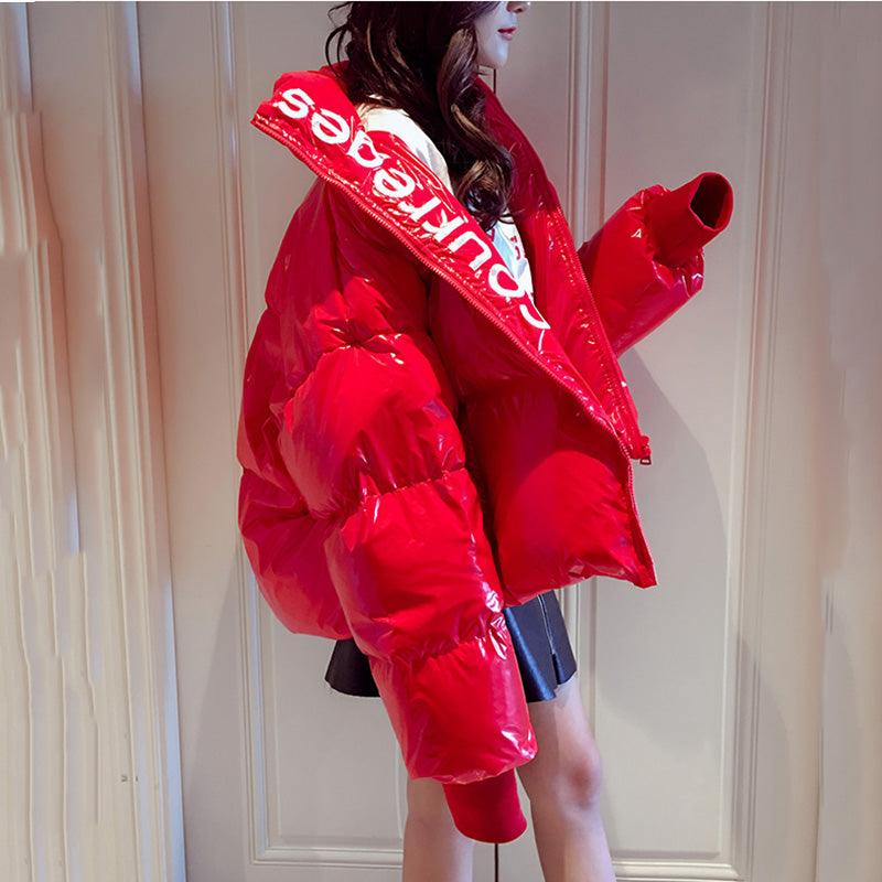 2019 Coats Glossy Down Parka women's Waterproof Coat Embroidery Jacket Creationsg