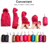 creationsg - Down jacket women hooded 95% duck down coat Ultra Light warm large size collar down jacket winter