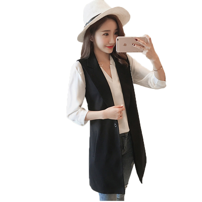 spring autumn new Korean version of the long section of the ladies outside thin jacket Creationsg