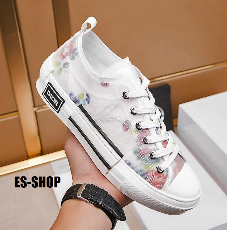 55a9040b SS-19 DIOR FLORAL LOW TOP OBLIQUE TECHNICAL CANVAS