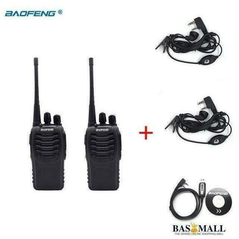 2 PCS Baofeng Walkie Talkie BF 888S Portable Radio Transceiver UHF 400-470MHz CB Radios HAM 16 Channel FM Stereo Hunting Station, walkie talkie radios, Bas Mall, Bas Mall, China / Option 4 / British