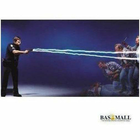 5 Meters Self Defense Stun Taser Gun - Black