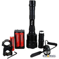 ANJOET 3T6 LED Tactical Flashlight 6000 Lumens Powerful XML 3xT6 5Mode Torch+18650 Battery+Charger+Remote Switch+Gun Mount, self defence, Bas Mall, Bas Mall, [variant_title]