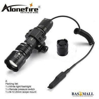 AloneFire TK104 CREE L2 LED Tactical Zoom Gun Flashlight Pistol Handgun Airsoft Torch Light Lamp for Outdoor hunting, self defense, Bas Mall, Bas Mall, Tactics flashlight A / Black