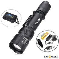 TK104 CREE XM L2 LED 8000LM Zoomable Waterproof rechargeable portable Tactical Gun Flashlight Pistol Handgun Torch light Lamp, self defense, Bas Mall, Bas Mall, [variant_title]