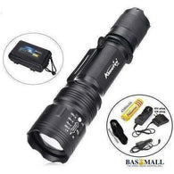 TK104 CREE XM L2 LED 8000LM Zoomable Waterproof rechargeable portable Tactical Gun Flashlight Pistol Handgun Torch light Lamp, self defense, Bas Mall, Bas Mall, Option D