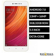 Mi Redmi Note 5A Prime 5.5-Inch HD (3GB,32GB ROM) Android 7.0 Nougat, 13MP + 16MP Dual SIM 4G Smartphone - Gold, Android Phones, basmall, Bas Mall, [variant_title]