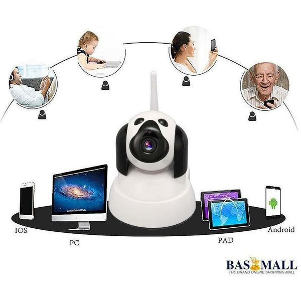 New white Wireless 720P Pan/Tilt Wifi Security IP Camera QF001 Support  Card IR-CUT 5M Security Network Camera Night Vision, surveillance camera, Bas Mall, Bas Mall, [variant_title]