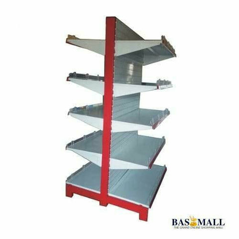 Double Sided Supermarket Steel Display Shelves