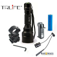 Linterna LED Flashlight  XML-T6 8000LM Tactical Flashlight  Aluminum Hunting Flash Light Torch Lamp +18650+Charger+Gun Mount, [product_type], Bas Mall, Bas Mall, [variant_title]
