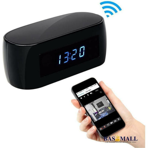 Alarm Clock With Hidden Spy Camera With Night Vision & Motion Detector For Home Security, spy cameras, Generic, Bas Mall, [variant_title]