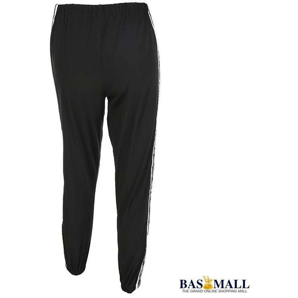 Women Camouflage Band Patchwork Trousers Black Wide Workout Leg Pencil Pants - Bas Mall Nigeria