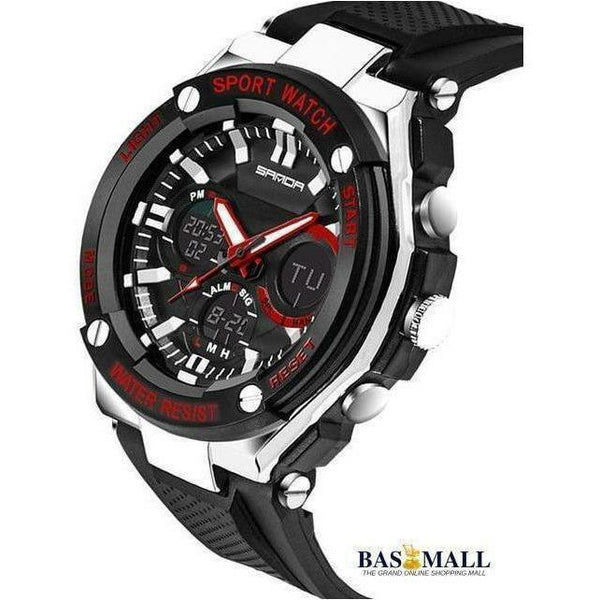 2018 Luxury  Mens Sports Watches Dive 50m Digital LED Military Watch, Wrist Watches, Bas Mall, Bas Mall, red