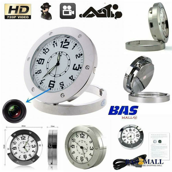 Spy Video Camera Analog Alarm Table Clock - Bas Mall Nigeria