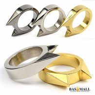 1Pcs Women Men Safety Survival Ring Tool EDC Self Defence Stainless Steel Ring Finger Defense Ring Tool Silver Gold Black Color, self defense, Bas Mall, Bas Mall, [variant_title]