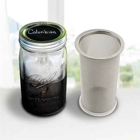 Mason jar coffee and tea cold brew diffuser
