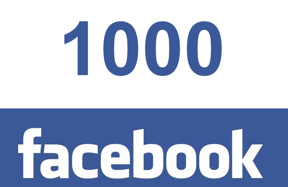 1000 Facebook post likes