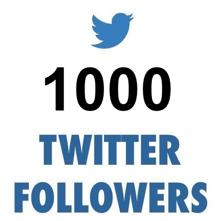 1000 ULTRA HIGH QUALITY Twitter Followers (REAL)