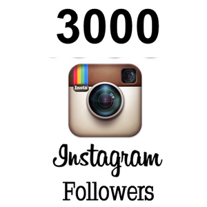 3000 Real Instagram followers