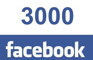 3000 Facebook post likes