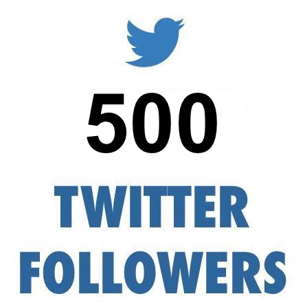 500 ULTRA HIGH QUALITY Twitter Followers (REAL)