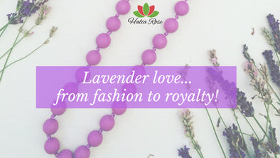 Lavender love - fashion trends, flowers and royalty!