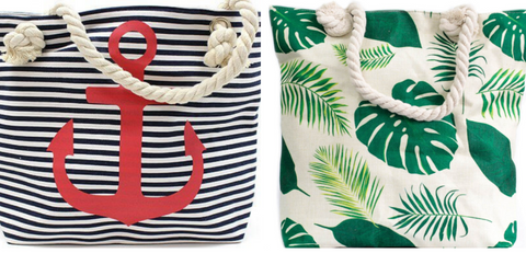 Halia_rose_stripe_anchor-tropical-print-summer-beach-bag-nappy-changing-bag