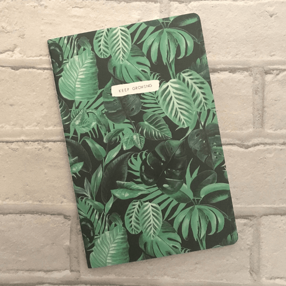 a5_notebook_tropical_botanical_keep_growing_affirmation