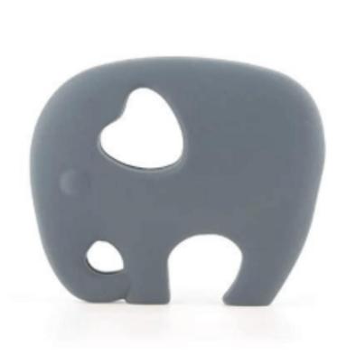 Elephant Teether in Misty Grey