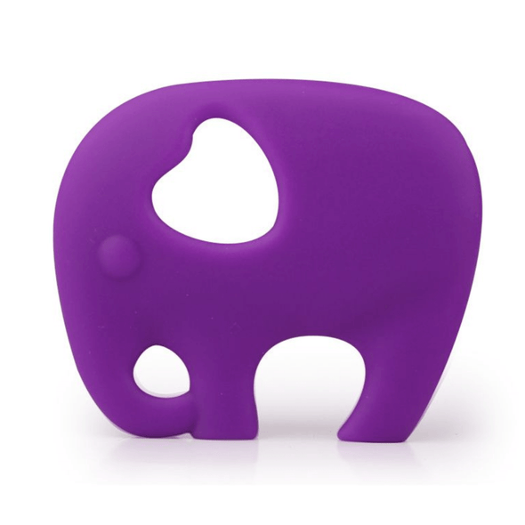 Elephant Teether in Plum